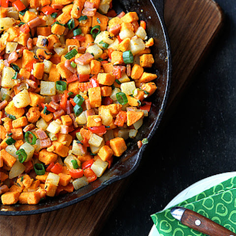 Potato Hash with Spinach and Roasted Red Pepper Recipe | Yummly