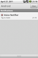 Screenshot of Voice Notifier