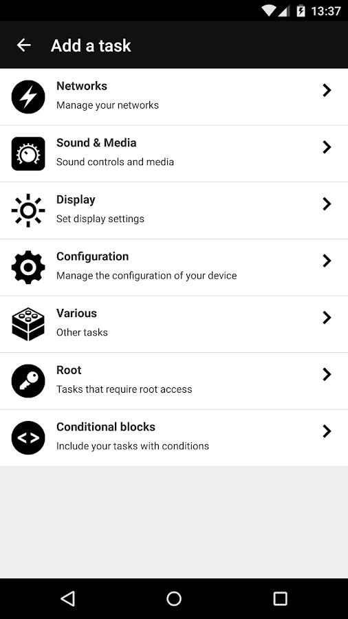 Droid Automation - Pro Edition Screenshot 3