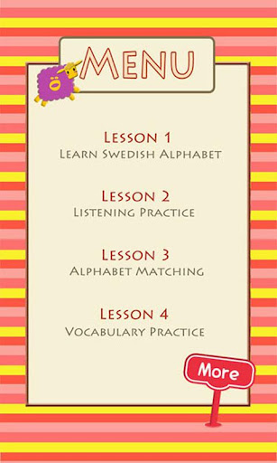 Learn Swedish Alphabet
