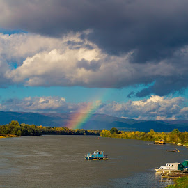 Rainbow and  rivers by Milena Erceg - Landscapes Weather