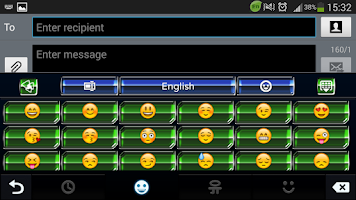 Screenshot of Alien Hive GO Keyboard theme
