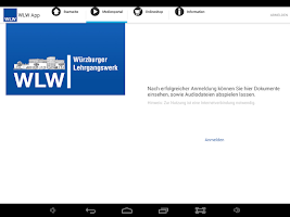 Screenshot of WLW App