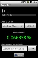 Screenshot of J2J Drunk Meter