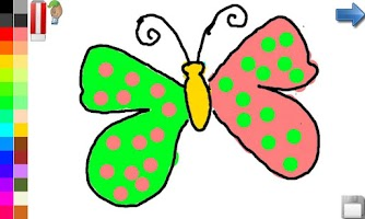 Screenshot of Coloring Book: Butterfly!