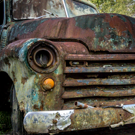 Front 53 Rusty Chevrolet Truck by Robert Willson - Transportation Automobiles ( rusty truck, truck, front, places, 53 chevrolet, usa, robert willson, 53 chevy truck, willson, fl, florida, cars, seville, bob willson, 53 chevy, documentary, 53 chevrolet truck, central )
