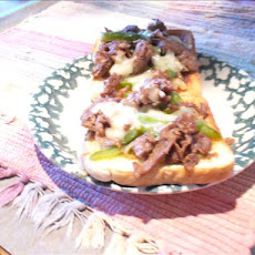 Philly Cheese Steaks With Apricot Sauce & Sour Cream