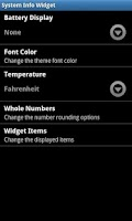 Screenshot of System Info Widget