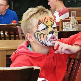 Tiger Face by Deborah Russenberger - People Body Art/Tattoos ( face painting,  )