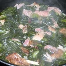 Collard Greens with Smoked Turkey Wings