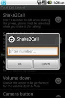 Screenshot of Total Call Control(Shake Call)