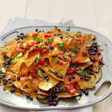 Grilled Nachos with Black Beans