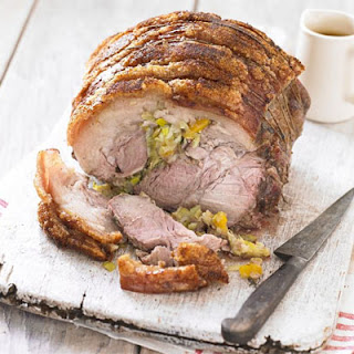 Slow-roasted Pork Shoulder With Leeks, Apricots & Thyme