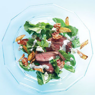 Steak Salad With Bacon, Crispy Potatoes, and Blue Cheese Dressing