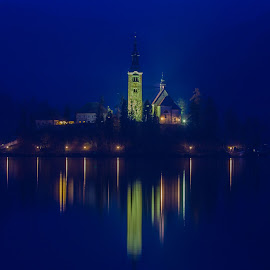 A Peaceful Evening On Lake Bled by Miro Zalokar - Buildings & Architecture Other Exteriors