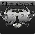 Silver Abstract Digital Clock icon