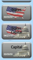 Screenshot of Quiz: USA States and Capitals