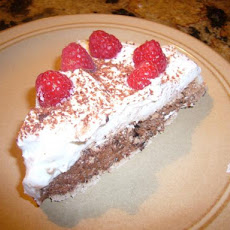 Chocolate Pavlova With Raspberries and Cream