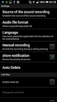 Screenshot of Call Recorder