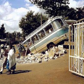 Outside Sandford School, Addis Ababa, Ethiopia by Siân Oldfield - City,  Street & Park  Street Scenes
