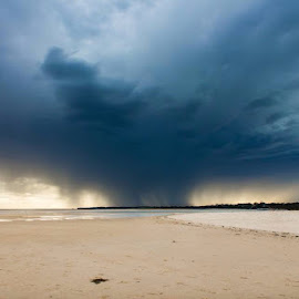 Solo storm by Abby Boyle - Landscapes Weather ( clouds, weather, beach, storm, rain )