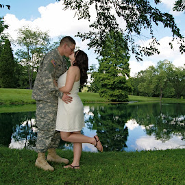 Come back to me by Jessica Williams Bender - People Couples ( military couple, kissing couple lake, kissing couple,  )