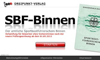 Screenshot of SBF-Binnen