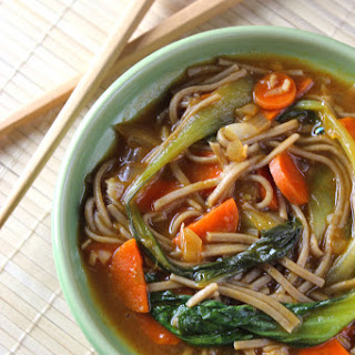 Healthy Asian Soba Noodle Soup