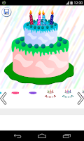 Screenshot of birthday cake games