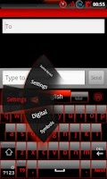 Screenshot of GOKeyboard Theme Glassy Red