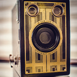Brownie Junior Six 16 by Sara Sawatzki - Artistic Objects Antiques ( still life, camera, antique camera, brownie junior, cameras )