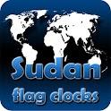 Sudan flag clocks icon