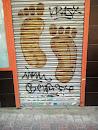 Footstep Mural