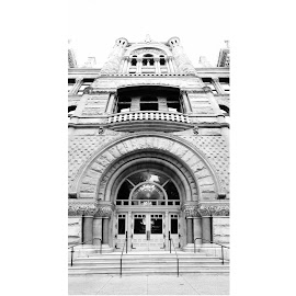 City Building by Kasey Chesnut - Buildings & Architecture Public & Historical ( building, black and white, architecture, city )
