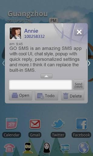 GO短信加强版篮球主题