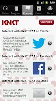Screenshot of KNKT Radio