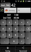 Screenshot of VAT Calculator