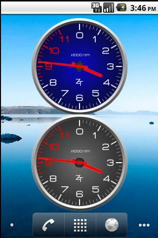 Color Tachometer Clock Set