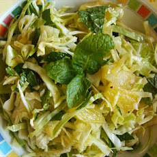 Pineapple-Mint Coleslaw