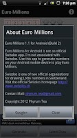 Screenshot of Euro Millions