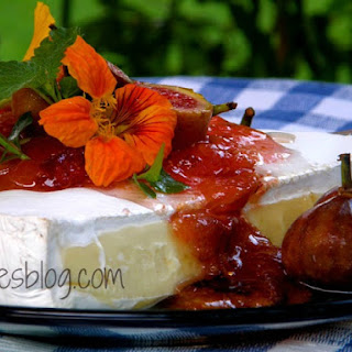 Creamy Brie with Fig Preserves