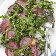 Roasted Sirloin Of Beef With Salsa Verde