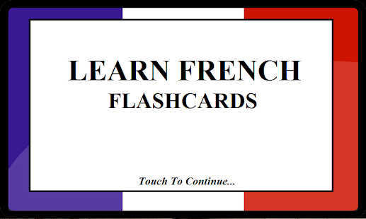 French/English Flashcards 2015 - screenshot