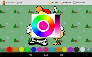 Screenshot of Burt's Coloring Book HD