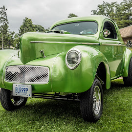 Willys Coupe by Jack Brittain - Transportation Automobiles ( car, lakeshore park, canada, green, coupe, ontario, car show, willys, oshawa )