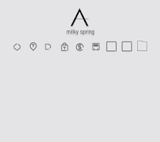 Screenshot of milky spring_ATOM spring theme