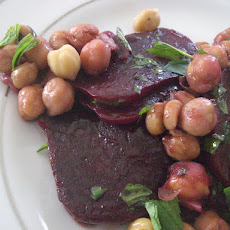 Balsamic Beetroot & Chickpea Salad with Mint