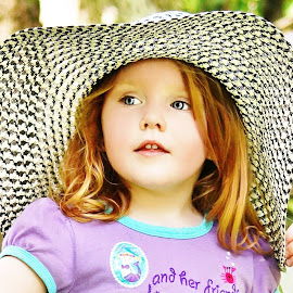 I Want A New Hat by Cheryl Korotky - Babies & Children Child Portraits ( hats, a heartbeat in time photography, portfolio, amazing faces, beautiful children, child model nevaeh, portrait )
