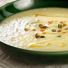 White Asparagus Soup with Pistachios Recipe