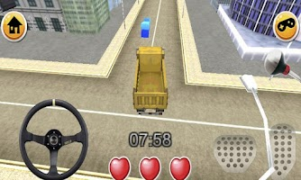 Screenshot of Tipper dump truck duty driving